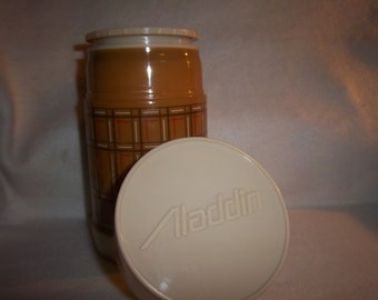 Retro Brown Plaid Aladdin Best Buy Thermos