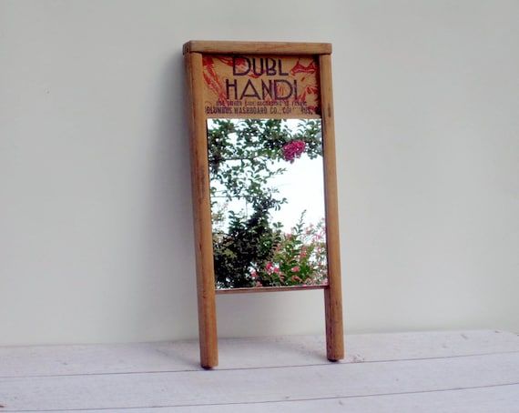 Wooden Wall Mirror Laundry Room Washboard By LoveButlerVintage