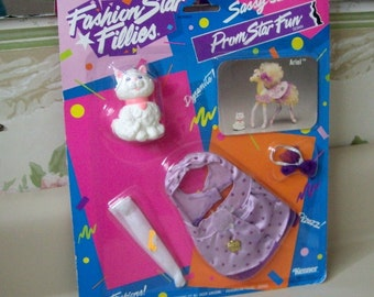 Fashion Star Fillies Prom Star Fun Fashion for the Sassy Sixteen pony, in original packaging, 1989
