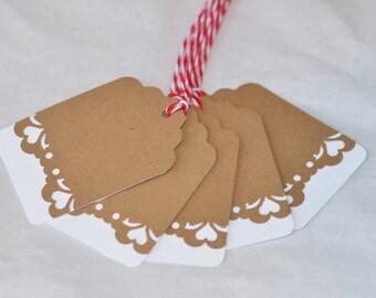 Kraft Paper Tags, Gift Wrap, Set of 10, Wedding Reception