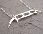 Sterling Silver Handmade Bat'leth Weapon Pendant