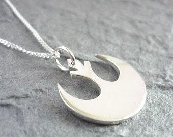 Handmade Rebel Pendant - sterling silver