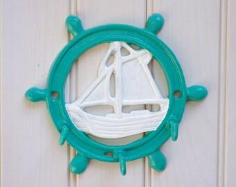 Nautical Key Rack - Ship Key Ring - Wall Key Holder