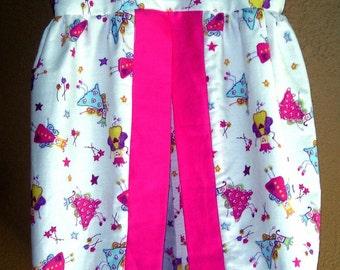 Baby Diaper Stacker Fuschia Handmade Hot Pink fairies Free shipping
