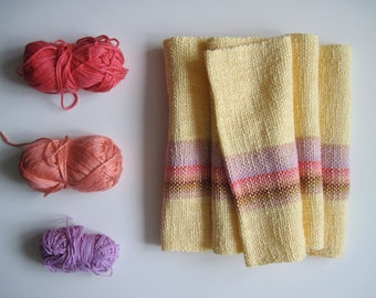 Scarf Handwoven 'The Tulip' featuring cotton, bamboo, pima tencel, linen and silk