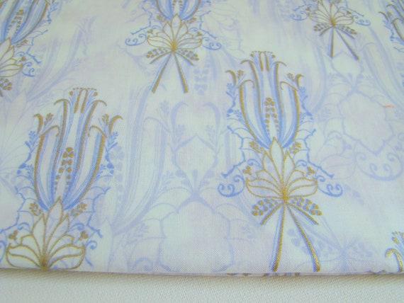 Nouveau Riche Fabric by Hoffman Periwinkle Ornate Metallic Pinache Iris