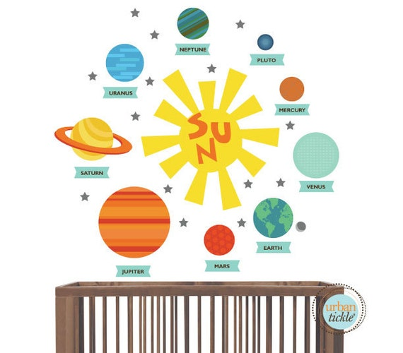 Planet Decals Solar System Stickers Nursery Decor by ...