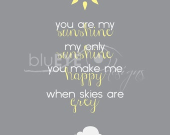 You Are My Sunshine Print INSTANT DOWNLOAD