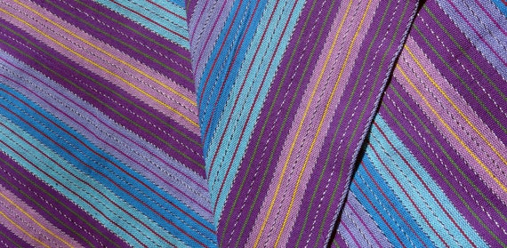 Guatemalan Fabric in hues of purple and blue