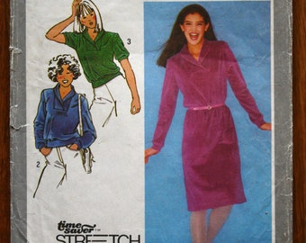 Simplicity 9607 Young Junior Teen Pullover Dress and Top Vintage Sewing Pattern