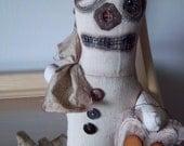 Weird art doll handmade altered steampunk soft sculpture decoration unique home decor OOAK