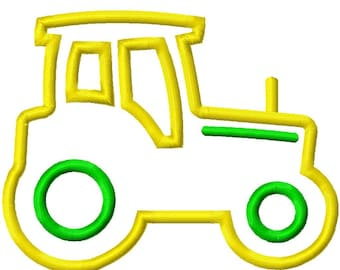 Digitizing Dolls Tractor Applique Embroidery Design 4x4 5x7 6x10 INSTANT DOWNLOAD