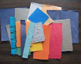 Handmade Paper Collage Bundle - Colors Collection