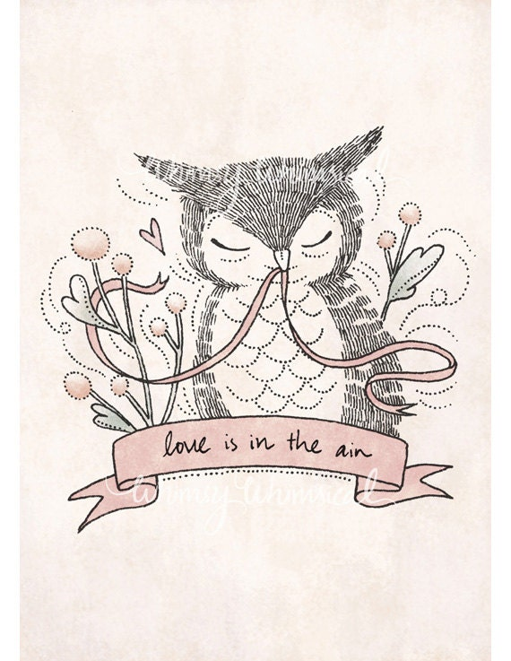 Love is in the air - 5x7 Print