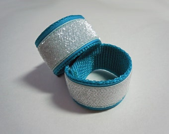 Sleeve Scrunchies Holders in White GLITTER You Choose Colors and Create Your Own