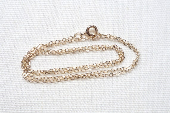 18 Inches Gold filled chain, 14K  finished necklace  chain  (2x1.5mm),