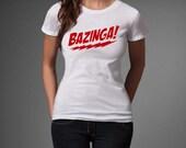 The Big Bang Theory Bazinga Coitus Sheldon Cooper TV Show Fanny Joke Fan T-Shirt Tee S M L XL