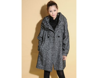 Leisure Style Wool with Big pleated Hood/ Cape/ 16 Colors/ RAMIES