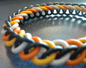 Holloween Stretchy Chainmaille Bracelet