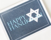 Hanukkah Card, Happy Hanukkah Card, Star of David