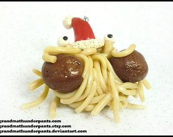 Handmade Flying Spaghetti Monster Christmas Ornament, Pastafarian, FSM Ornament