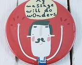 My massage will do wonders  - funny magnet with a masseur picture