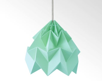Moth origami lampshade mint