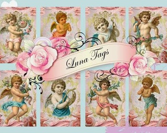 INSTANT DOWNLOAD Cherubs with Flowers  No.391 Personal Use Only
