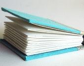 Sky Blue Hand Bound Sketchbook Journal Travel Diary Scrapbook Miniature
