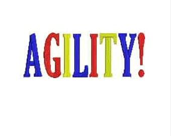 Dog Agility Tee Shirt - Full Width Text