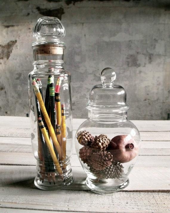 2 Vintage Apothecary Jars - Set 4