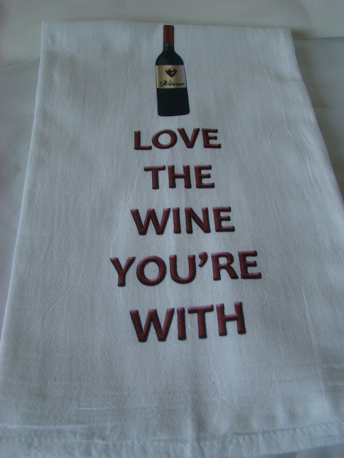 Download Wine Tea towel Love the Wine You're With by SweetBohemianLife