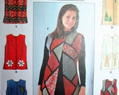 Art Vest Sewing Pattern Simplicity 8228 Size XSmall Small Medium Eur Size 32 to 42 UNCUT