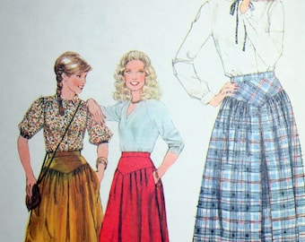 Vintage 70s Skirt Sewing Pattern Simplicity 8659 Size 12 Waist 26.5
