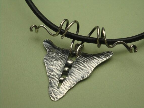 Silver Shield Pendant - PMC - Fine Silver Necklace - PMC