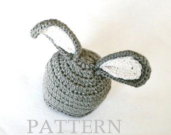 Crochet pattern pdf Bunny Hat Baby Girl Boy. Photography prop. Birthday gift 4 sizes (027)