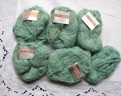 5 VINTAGE skeins Columbia Minerva Reverie Trio MOHAIR Yarn, 3 different colors stranded together