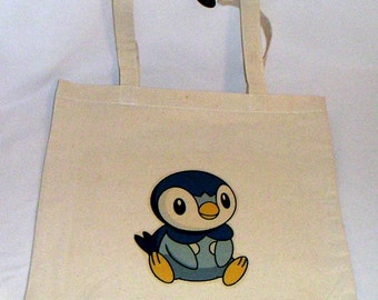 New Pokemon Piplup Halloween Trick or Treat bag Tote