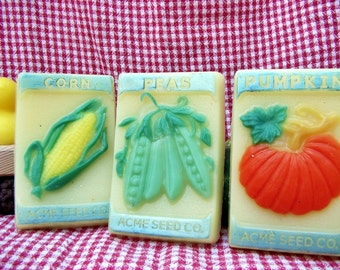 Garden Vegetable Soap--Different Veggies Available--Shea Butter Soap--