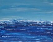 Large Original Abstract Art Seascape Ocean Water Painting