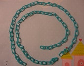 Kawaii kitschy retro style plastic chain Blue  40 cm   2 pcs---USA seller