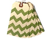 Green Chevron Gift Tags Set of 6 Handmade Packaging Gift Wrap Scrapbooking Wedding Place Cards