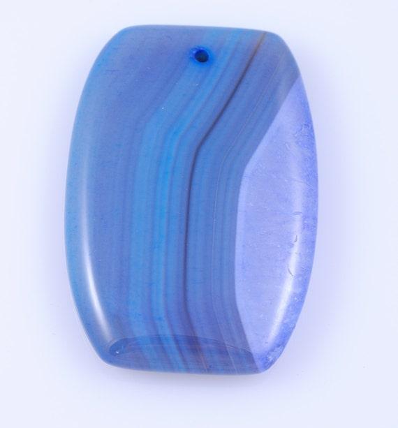 Blue Stripe Agate pendant bead B11S2144