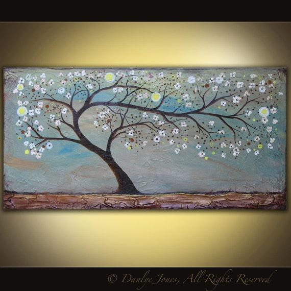 Original Tree Painting acrylic on canvas 48 x 24