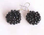 Round Black Seed Bead Earrings (CLEARANCE)