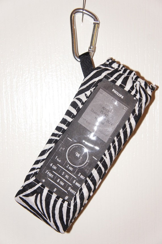 Wave Phone Holder With Window And Clip For Your Disney Cruise Zebra Print