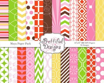 Digital Paper Pack  - Personal and Commercial Use - Maya
