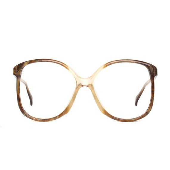 Reserved for masseyna ---  Actuell vintage Eyeglasses - marble brown / transparent