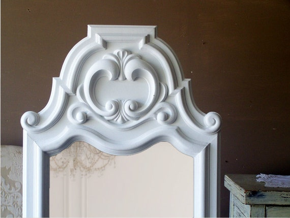 """French Provencall , Leaning Mirror, Shabby Chic, 50"""" X 21"""""""