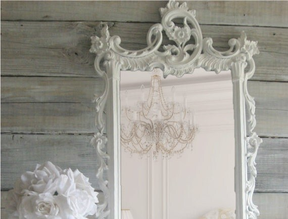 Hollywood Regency Ornate Mirror, Shabby Chic Mirror